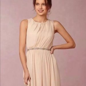 BHLDN Jenny Yoo Eloise dress in sand size 8